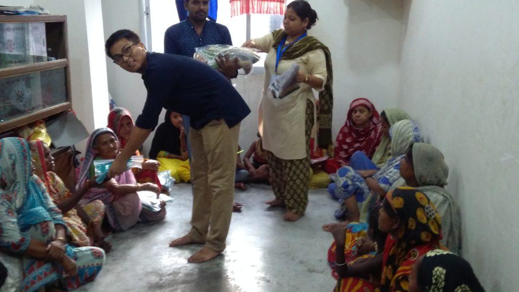 Saree distribution to poor people